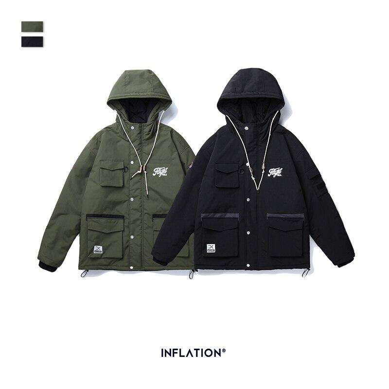 INFLATION DESIGN Thick Winter Men Parka Streetwear Style Functional Men Jacket Hooded Men Parka With Pockets Men Coats 1999AE