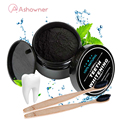 ASHOWNER Black Teeth Whitening Oral Care Charcoal Powder Natural Activated Charcoal Teeth Whitener Powder Oral Hygiene Clean