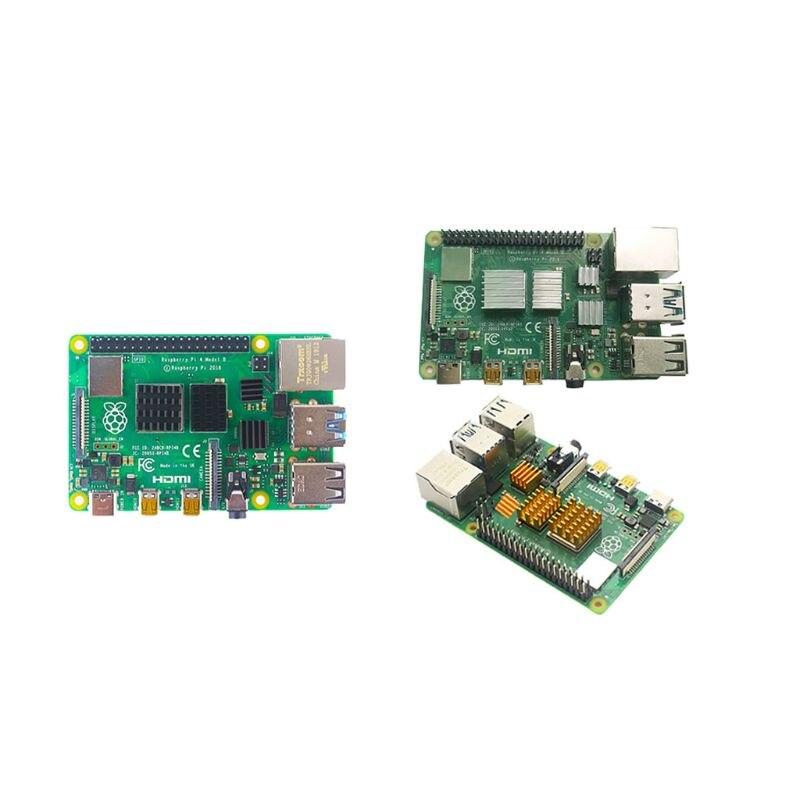 3 pçs/set Alumínio Dissipador de Calor Do Radiador Cooler Kit com Fita Adesiva para Raspberry Pi 4B