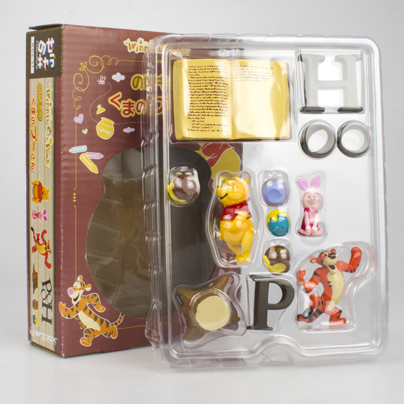 Image 2 - Disney Toy Winnie The Pooh Tigger Piggy Pijie with Honey Jar Action Figures 2 5cm Children Birthday Gifts Toys Decoration 5DWDolls   -
