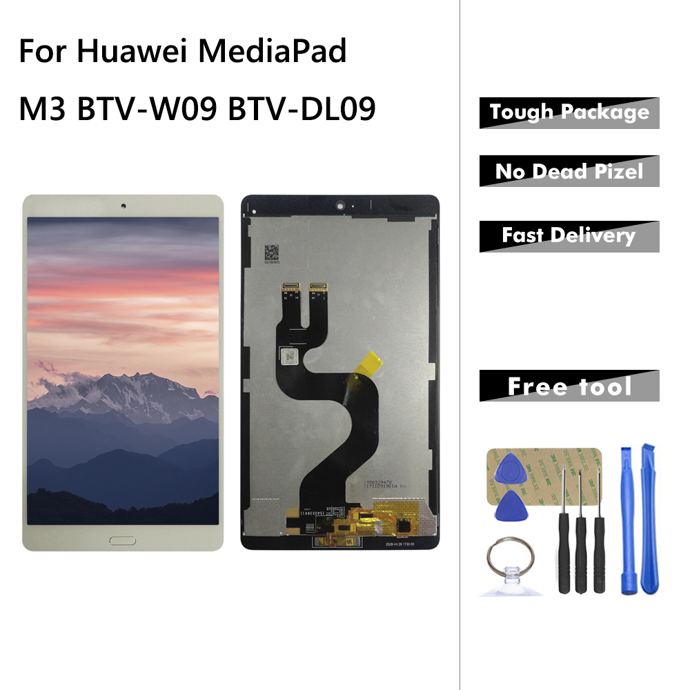 Lcd For Huawei MediaPad M3 BTV-W09 BTV-DL09 LCD Display Touch Screen Digitizer Assembly Replacement For Huawei M3 With Tools