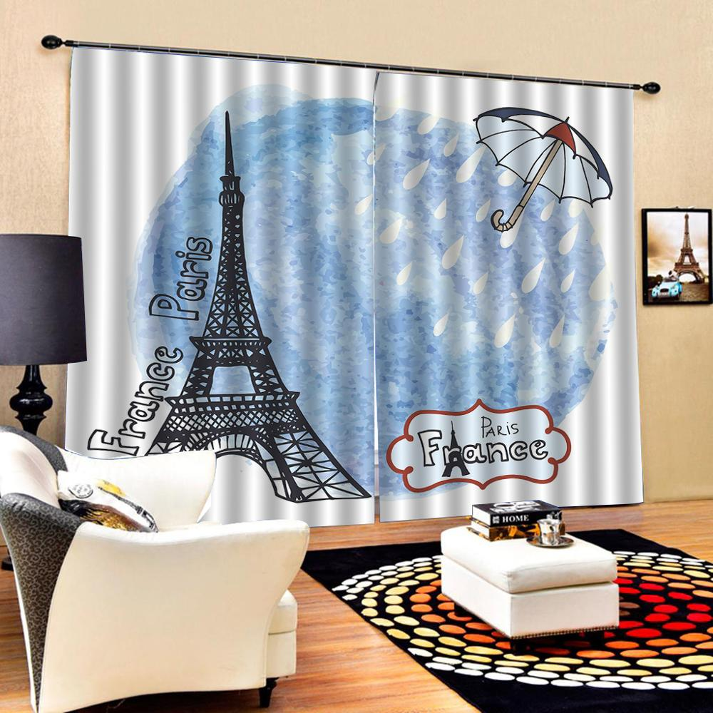 romantic tower curtains Luxury Blackout 3D Window Curtains For Living Room Bedroom Decoration curtains