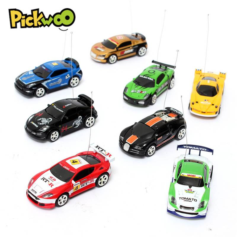 Pickwoo RC Car 1:58 Mini 27/40MHZ Remote Radio Control Micro Racing Drifting Vehicle 4 Frequencies Model Toy for Children Gift