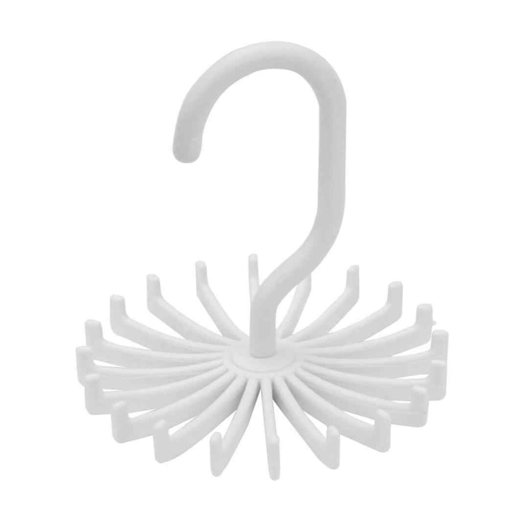 5 اللون 360 درجة التعادل حزام داخلي شماعات الدورية برم رف مربوط قابل للتعديل حامل هوك العلاقات خزانة قضيب المنظم التخزين