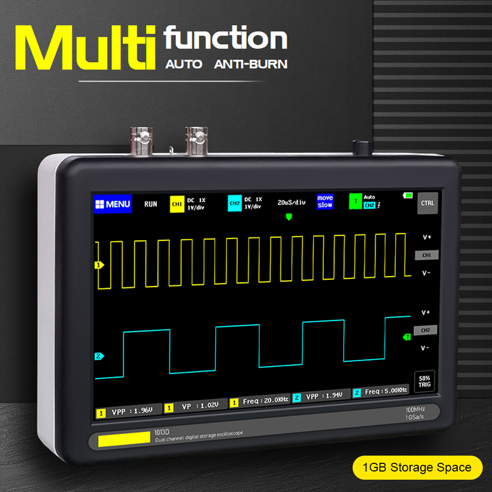 Mini Digital Tablet <font><b>Oscilloscope</b></font> <font><b>100MHz</b></font> Dual Channel <font><b>Oscilloscope</b></font> Digital TFT LCD Touching Screen Professional <font><b>Oscilloscope</b></font> New image