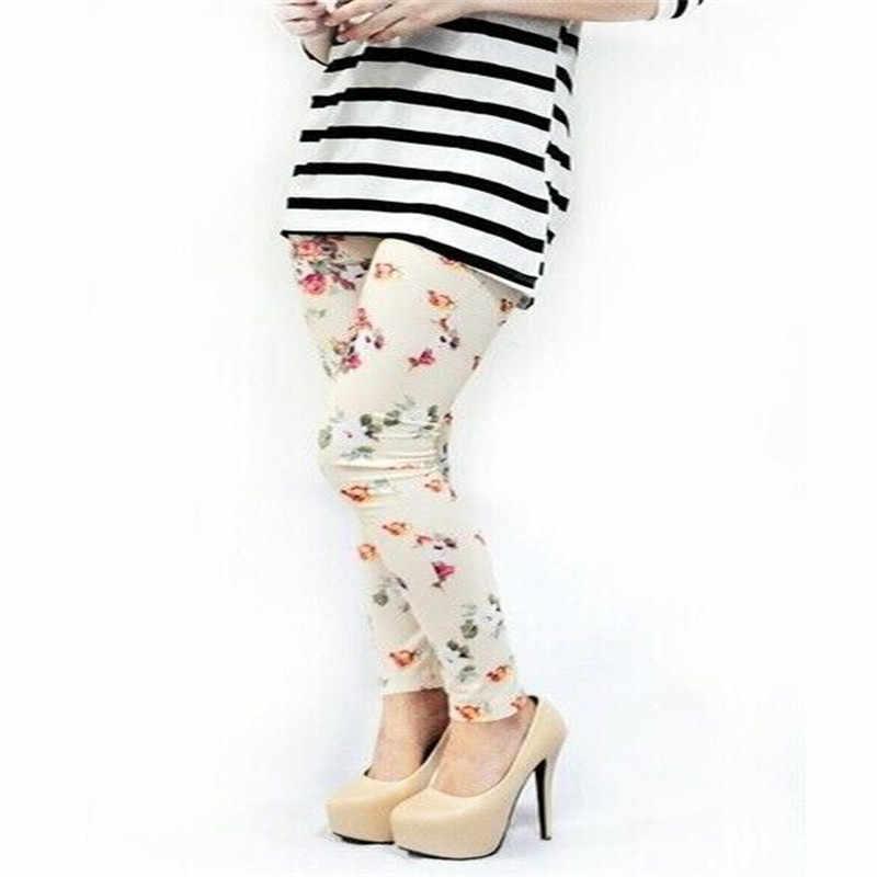 Nữ Quần Legging Nữ Skinny Thun Cao Cấp Hoa Hồng Hoa Mềm Mại Quần Legging Co Giãn Jeggings Căng Quần Legging Giảm Béo Nữ Quần Áo