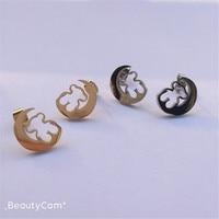 Boucles d'oreilles en acier inoxydable boucles d'oreilles en acier inoxydable de très haute qualité beaucoup de couleur peut sélectionner cadeau de fête pour la meilleure fille modèle à la mode style