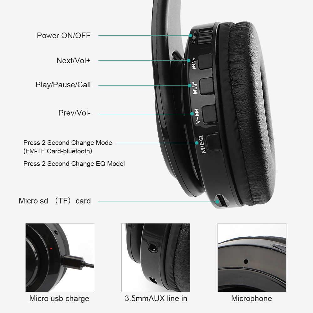 Bluetooth イヤフォン HeadphoActive ノイズキャンセルステレオワイヤレスヘッドセット tf カード入力、 Aux ライン、ソフトイヤーマフ