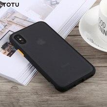 TOTU dla iPhone 7 8 7 Plus 8 Plus X XS XR 11 11 Pro 11 Pro Max etui na telefon ochronna tylna pokrywa dla iPhone 11 Pro TPU + etui na PC