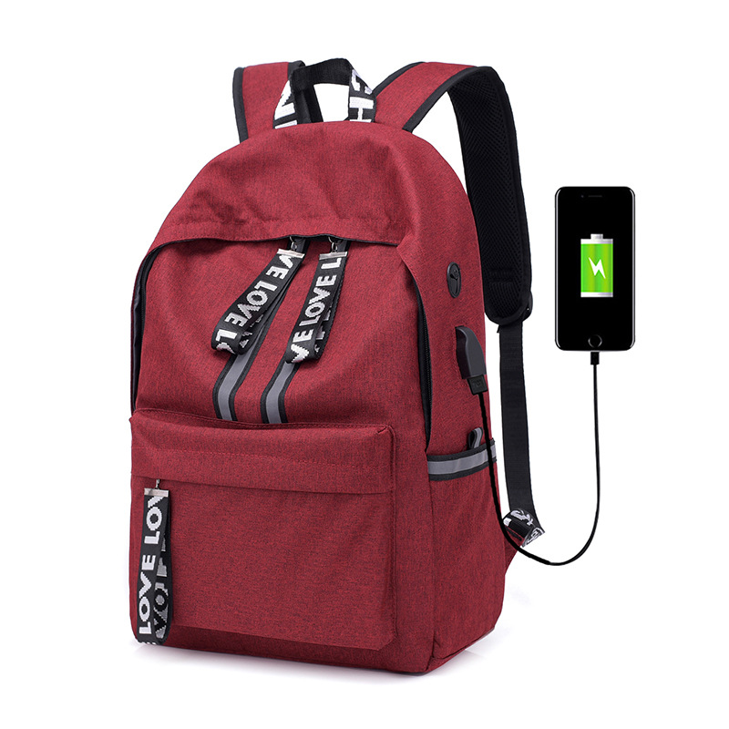 USB Convenient Charging Men and Women Backpack College Student Schoolbag Leisure Computer Backpack Dorpshipping Wholesale