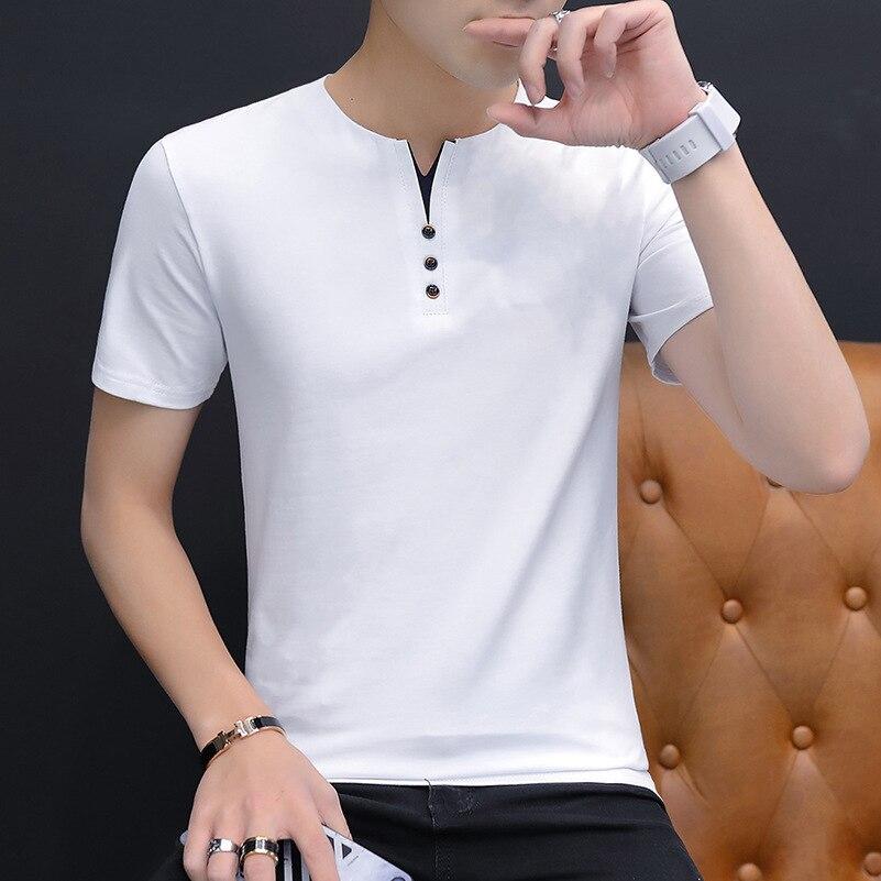 Мужская футболка с короткими рукавами Belbello, летняя Однотонная футболка с круглым вырезом и короткими рукавами, Мужская футболка для отдыха