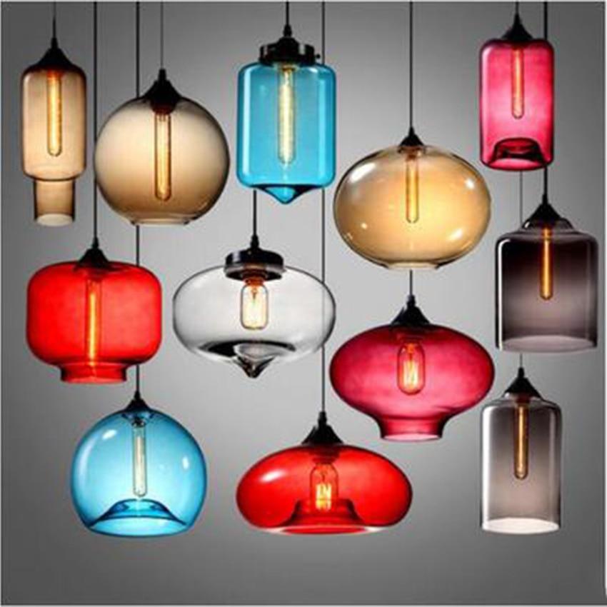 Nordic Design Glass Pendant Lamp Hanging Lamp Lighting Suspension Luminaire Kitchen Hanging Lamps Pendant Lights Home Decor