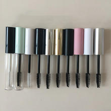 1PC 10ml Portable Empty Bottle Eyelash Tube Mascara Cream Vial/Container Fashionable with Silver Gold Lid Refillable Bottles New