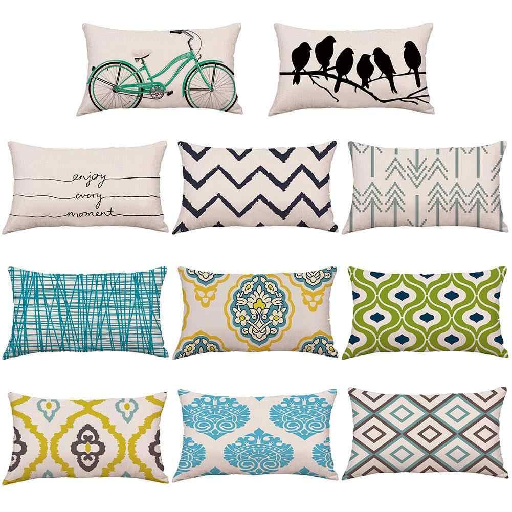 Abstract Throw Pillow Home Decor DECORATIVE THROW PILLOW Cover -Navy Blue Geometric Pillow Designer Pillow
