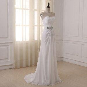Image 4 - Jiayigong robe de mariée, robe de mariée, style Boho, sans manches, plissée avec Train de balayage, robe de mariage, été, plage, grande taille