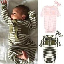 Комплект из 2 предметов для маленьких девочек, хлопковое Пеленальное Одеяло, спальный мешок