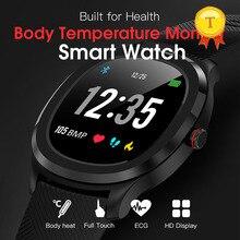 2020 Nieuwste IP68 Waterdicht Ecg Ppg Smart Watch Temperatuur Monitor Hartslag Bloeddruk Bluetooth Smartwatch Fitness Track