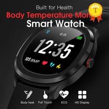 2020 최신 ip68 방수 ecg ppg 스마트 시계 온도 모니터 심박수 혈압 블루투스 smartwatch 피트니스 트랙