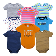 Newborn Baby Boys Clothes Short Sleeve Infant Girls Boy Clothing Set Cotton Rompers overalls de bebe jumpsuit onesies for 0-12M