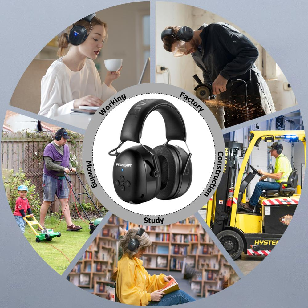 Электронная гарнитура 5,0 Bluetooth наушники объемного защита ушей Беспроводной наушники Шум шумоподавления зарядный для музыки съемки-5