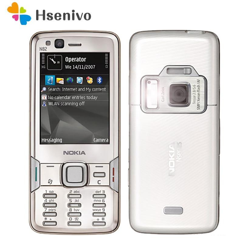 Original Nokia N82 GSM 3G Bluetooth WIFI 5MP Camera FM Radio 2.4 Inch Cell Phone 1 Year Warranty Free Shipping