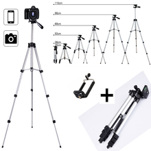 Extendable Tripod Stand Mount for Phone Camera Tablet Webcam Aluminium Adjustable Phone Holder For iPhone Samsung Nikon Canon
