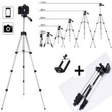 Uzatılabilir Tripod standı montaj telefon kamera için Tablet Webcam alüminyum ayarlanabilir telefon tutucu iPhone Samsung Nikon Canon