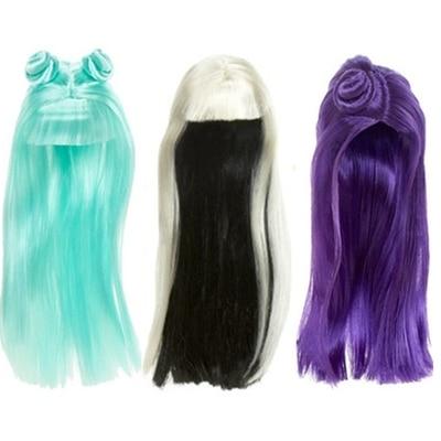 Парик для куклы игрушка голова куклы принцессы ярких цветов Цвет DIY игрушечный парик для детей подарок на день рождения, черный, фиолетовый, ...