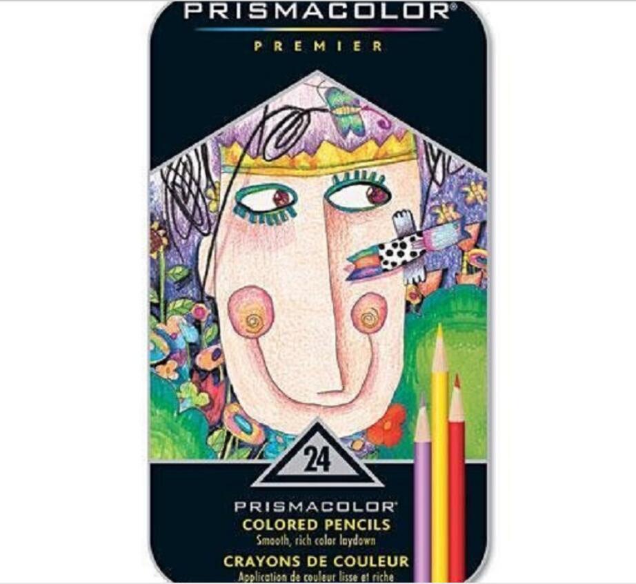 24 color artist grade drawing pencil oily pencil 3.8MM soft big core painting pencil lapis de cor Sanford Prismacolor oil pencil