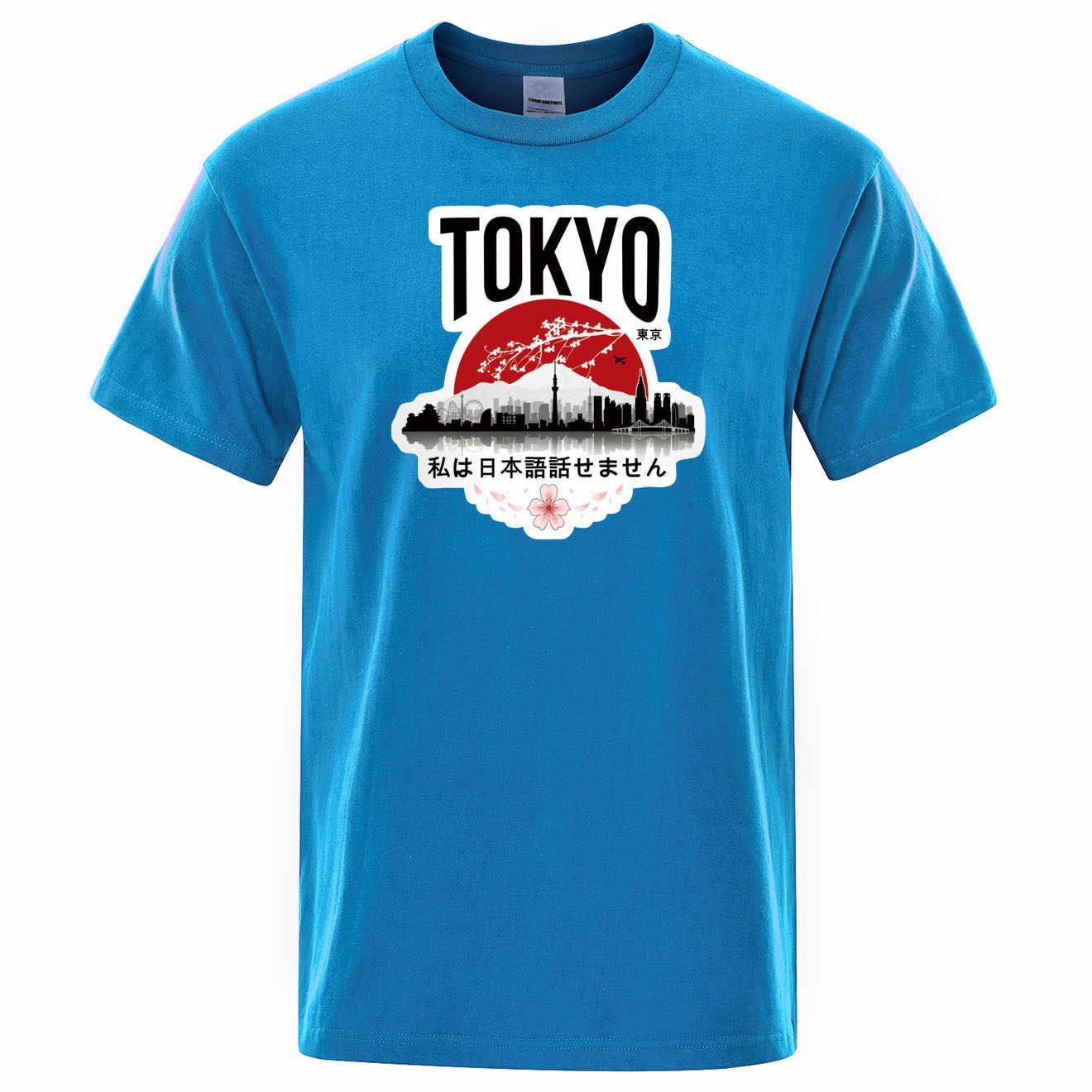Tokyo baskı T-shirt ben değil hoparlör japon tasarım erkek T-shirt erkek giysileri 2020 yaz T Shirt erkek pamuk siyah Tees Tops