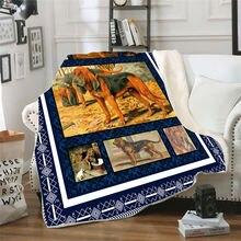 Одеяло из флиса с 3d принтом для кровати кроватей густое одеяло