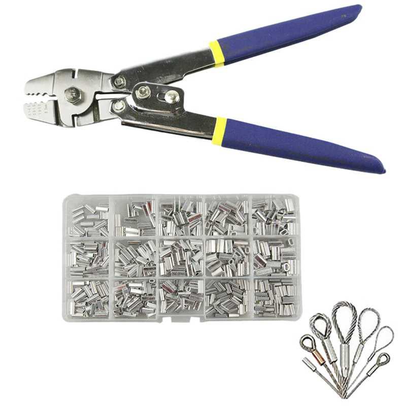 Рыболовные плоскогубцы из нержавеющей стали, обжимной инструмент с 150 шт., обжимной соединитель петля комплект для обжимных и обжимных втулок|Плоскогубцы|   | АлиЭкспресс