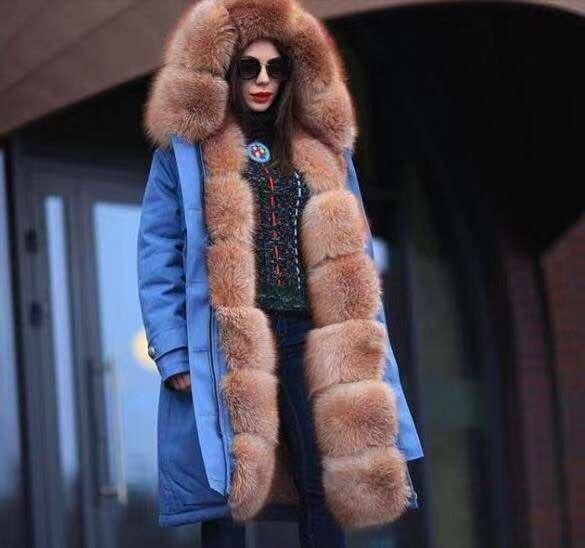 New Winter Women's Slim Body Warm Women's Lace Coat Long-sleeved Long Hooded Coat Camouflage Plush Cotton Coat