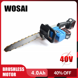 WOSAI Cordless Kettensäge Bürstenlosen Motor Power Werkzeuge 40V li-ion Cordless Elektrische Kettensäge Garten Power Tools