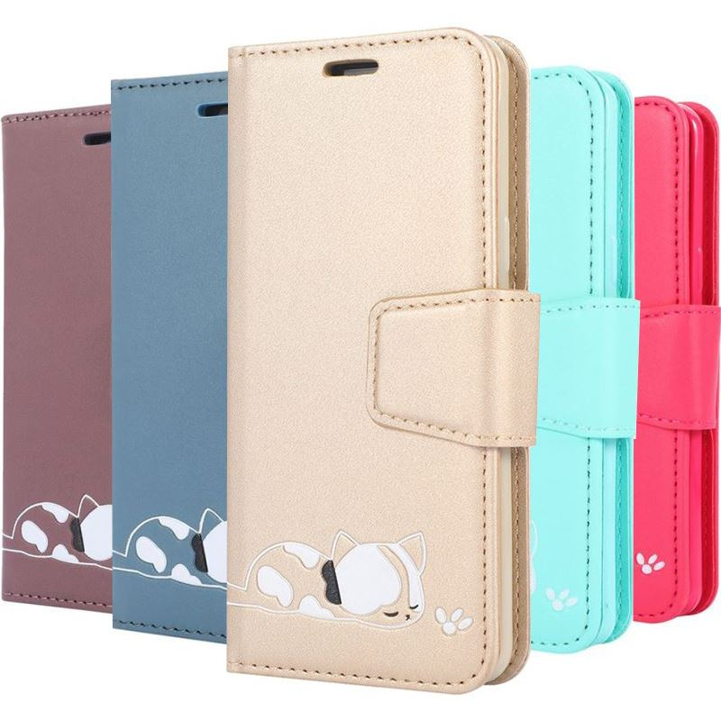 PU <font><b>Leather</b></font> <font><b>Case</b></font> For <font><b>Samsung</b></font> <font><b>Galaxy</b></font> A10 A20 A20E A30 A40 <font><b>A50</b></font> A70 S9 S10E S10 j4 j6 Plus A7 2018 Cute Cat <font><b>Wallet</b></font> <font><b>Stand</b></font> Cover P04F image