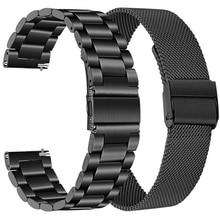 Ремешок из нержавеющей стали для смарт-часов Garmin шнур 2/шнур SQ Music, металлические браслеты для Vivoactive 4 3 Forerunner 645 Correa