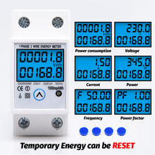 Din Rail Single Phase Digital Reset Zero Energy Meter kWh Voltage Current Power Consumption