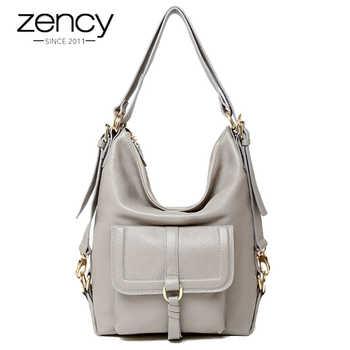 Zency Fashion Women Shoulder Bag 100% Genuine Leather Large Capacity Handbag Multifunction Use Satchel Crossbody Messenger Purse - DISCOUNT ITEM  54% OFF All Category