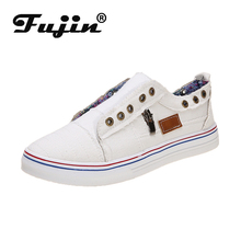 Fujin Flats Dropshipping European Patchwork Espadrilles Shoes Woman Genuine Leather Creepers Ladies Causal Canvas Loafers