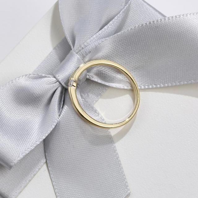 SILVERHOO 925 Sterling Silver Rings for Women Cute Zircon Round Geometric 925 Silver Wedding Ring Fine Jewelry Minimalist Gift 5