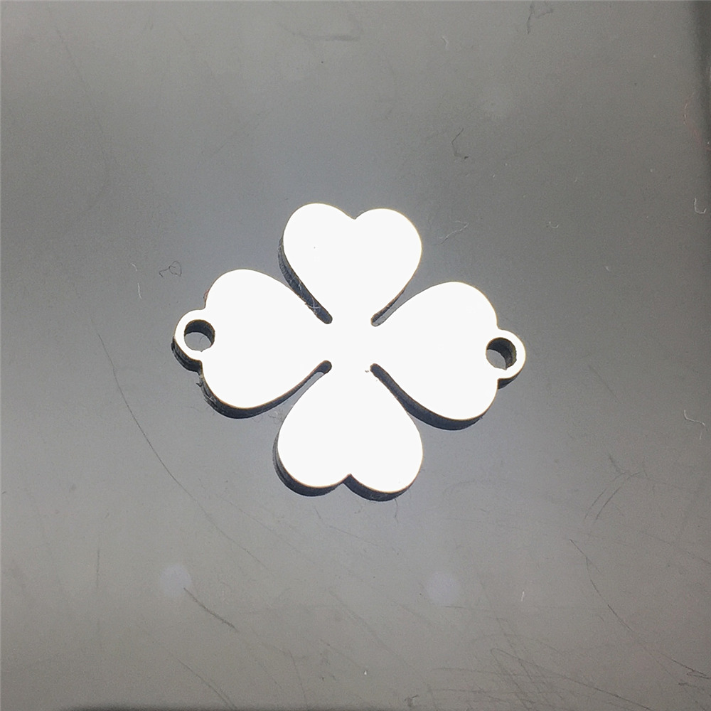 Wish Bracelet Component Stainless Steel 10Pcs Lucky Clover  30Types Charms Jewelry Connector Handmade Charms Diy Jewelry Finding