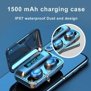 Image 5 - F9 5 auricolare senza fili Bluetooth 5.0 cuffie IPX7 auricolari impermeabili Touch Key auricolari funziona su tutti gli smartphone Android iOS