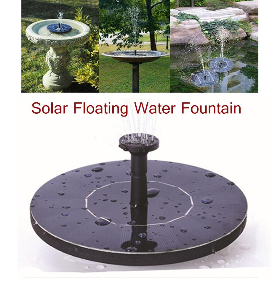 Solar Fountain Pump Water Pumps 180L/H Solar Panel Fountains Waterfalls Floating Water Pump for Birdbath Pool Pond Garden