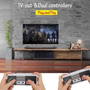 Image 3 - فيديو الألعاب الطفولة وحدة تحكم تتريس 8Bit الكلاسيكية الرجعية NES TV لعبة AV ميناء المدمج في 620 ألعاب المزدوج مقبض اللعبة هدية