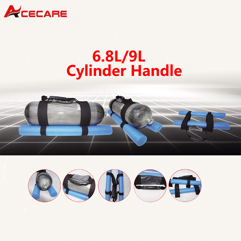 AC8001 Handmade 6.8L Carbon Fiber Cylinder Pcp Air Rifle Tank Paintball Air Gun Airforce Condor Bottle Bag Portable Handle Cover