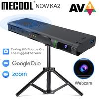 Mecool NOW KA2 Amlogic S905X4 TV Box AV1 Android 10 2GB 16GB certificato Google con videocamera HD 1080P supporto videochiamata riunione