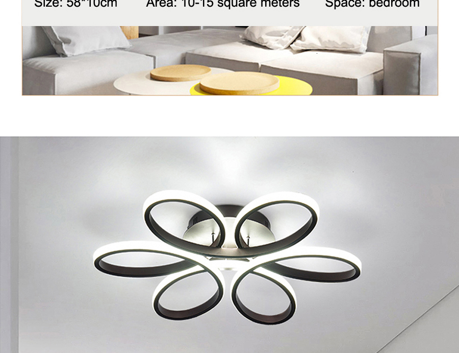 H601d4edd71324c1d86787dc51bab2e92F Modern LED Ceiling Lights Remote control for Living room Bedroom 78W 72W 90W 120W Aluminum boby indoor plafond Lamp flush mount