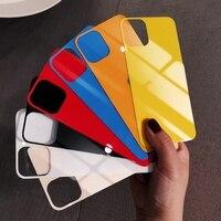 De película Protector de pantalla 9H de templado de vidrio de película para iPhone 11 Pro Max 12 mini X XR XS Max 6S 6 7 8 Plus etiqueta colorido cubierta trasera