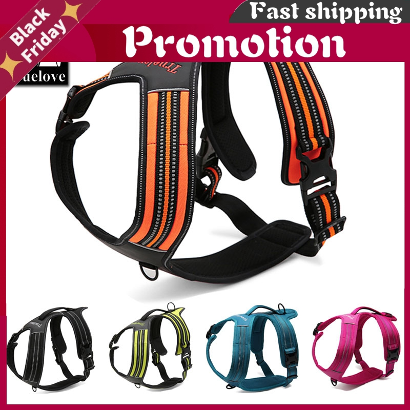 Sport Nylon Reflective No Pull Dog Harness Outdoor Adventure Pet Vest With Handle Xs To Xl 5 Colors In Stock Factory
