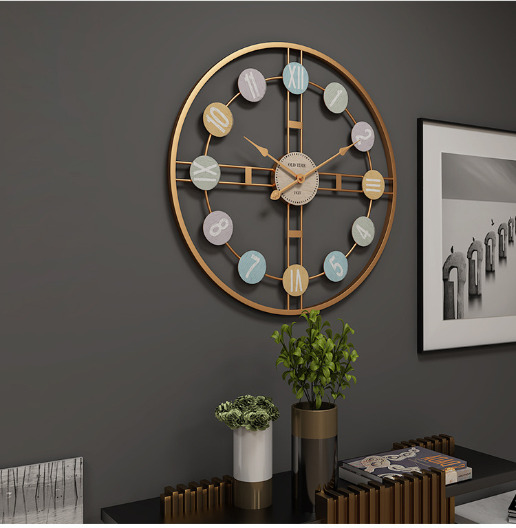 Metal Wall Clock Home Wall Decor Hanging 3D Wall Digital Clocks Living Room Decoration Modern Design Decorative Mute Clock Art (6)